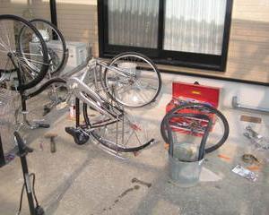 また、自転車修理