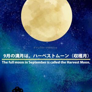 """2021年9月の満月""""ハーベストムーン(収穫月)""""を見るなら、20日(月)か21日(火)の夜! 但し、願い事をする場合は1番大きな満月になる朝の「8時55分」に空に向かって!"""