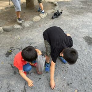 大好きな公園で、大好きなお兄さん達と。