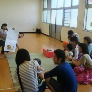 今年もパカっとスイカ割りをやりました♪栄町児童館、パパと児童館であそぼう(2018年8月)