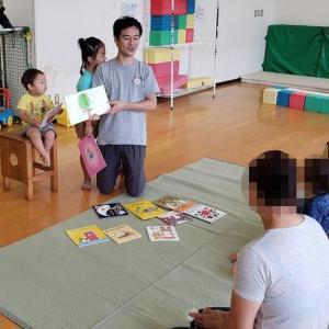 スイカがパカッと割れました!栄町児童館、パパと児童館であそぼう(2019年8月)