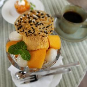 1月の Cafe Patra * 柿の和風パフェ&金柑のタルトレット&タルトタタン♪