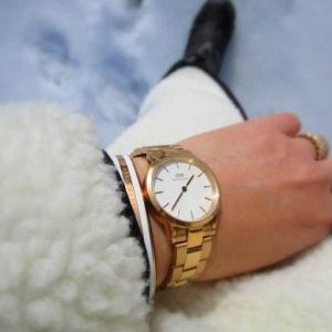 DW ダニエルウェリントン * 新作「ICONIC LINK」で冬のホワイトコーデ、やってみました♪