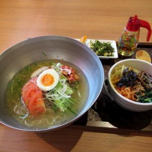 鶴橋・彩食韓味 李園 * 冷麺+ミニビビンパランチ♪