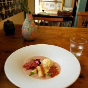 珈琲と御菓子のお店・つむる * 奥河内の古民家カフェの桃スープ♪