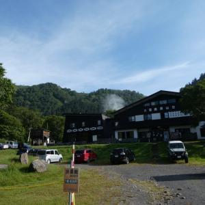 高原温泉から緑岳〜白雲岳避難小屋の工事見学②