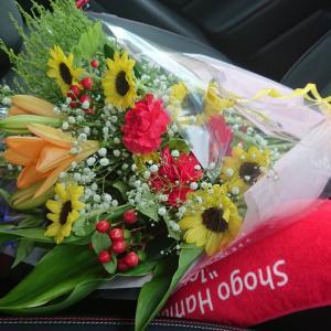 花束をゆうなに