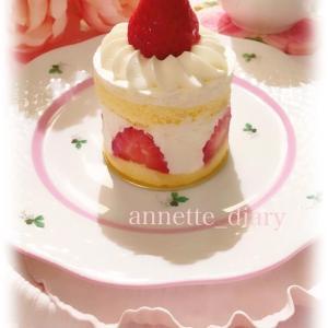 小さないちごのケーキ♡ふんわりホイップ