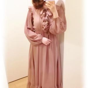 おとなピンク&くすみパステルワンピース♡着画