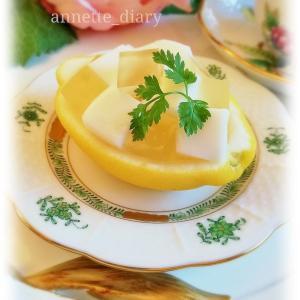 ヨーグルトデザート♡レモンのキューブゼリー