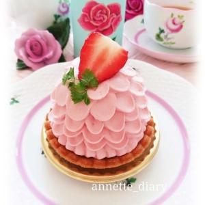 バレンタインティー♡ピンクのマスカルポーネタルト