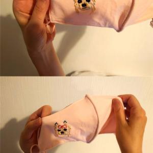 マスクに刺繍