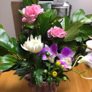 サプライズのお花