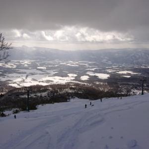 スキーからの景色