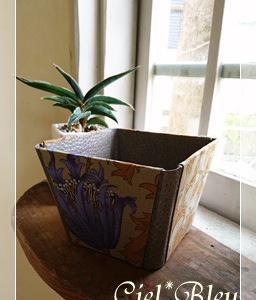 モリスとスキバルで折り畳めるミニトラッシュボックス*アトリエKunugiギャラリーの生徒様作品