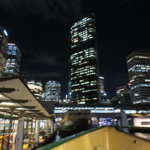 夜景をみながら海辺で夕食@Sydney旅行記23
