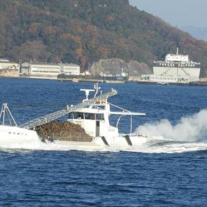 牡蠣船が爆走中・ある日の呉湾沖