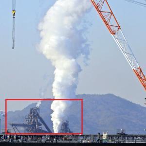 3年先には見られなくなる煙。日鉄日新製鋼呉製鉄所。