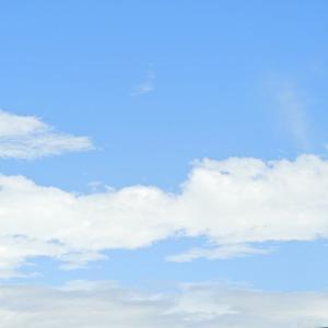 8月10日の青い空(休山登山道路より撮影)