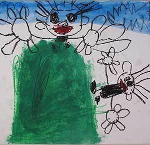 幼児の絵画からー基準線(基底線)、空間