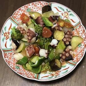 真蛸と夏野菜の中華炒め