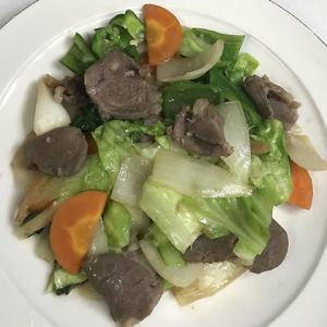 猪肉入り野菜炒め