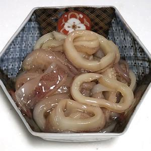 剣先烏賊の麺つゆ漬け