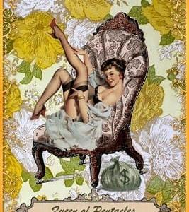 Pinup girl Tarot card