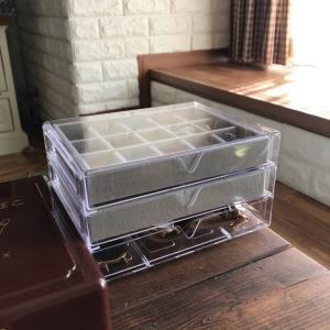 【ダイソー3段引出しケースとアクセサリートレイをアクセサリー収納ボックスに】