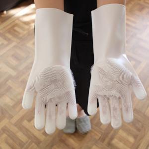 【3COINS超売れ筋商品!! 大掃除に大活躍な予感の「シリコンブラシ手袋」】
