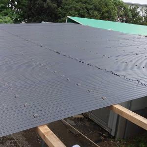 物干し場の屋根修理完了