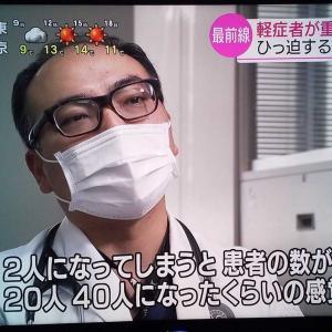 埼玉医大総合医療センターのコロナ治療現場をNHKが放映