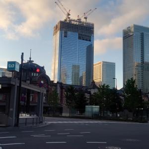 今朝の東京駅周辺