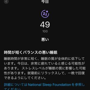 疲れ過ぎてて寝れなかったパターン(^_^;)