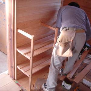 造作家具工事4/洗面脱衣室・収納棚