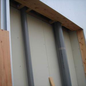 外装工事12/パイプスペース&外部倉庫壁・サイディング貼り