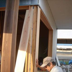 外装工事13/玄関・付け柱など&内装工事22/物干室・腕木など
