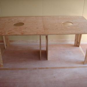 家具工事3/針葉樹合板製ワーキングテーブル2