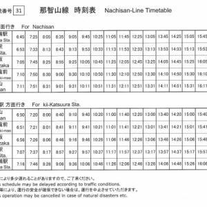 4月1日~路線バス時刻改正☆那智駅バス停留所の移設についてのご案内