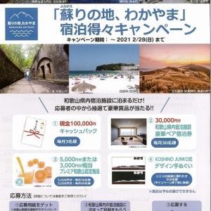 「蘇りの地 わかやま」宿泊得々キャンペーン