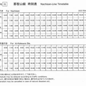 2021年4月1日(木)~那智山線の通常運行およびきっぷ売り場の営業再開のお知らせ