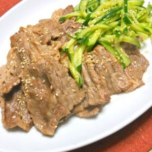 サッと和えて簡単〜焼き肉の供にオススメ!さっぱり胡麻キュウリ。
