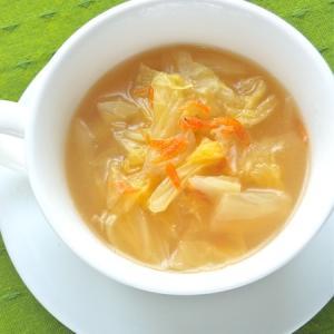 白菜使い切り〜減塩でやさしい味のたっぷり白菜と干し海老のスープ。
