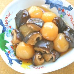 肉厚で美味しい〜生しいたけ「飛騨・美濃やまっこ」と玉こんにゃくの旨煮。