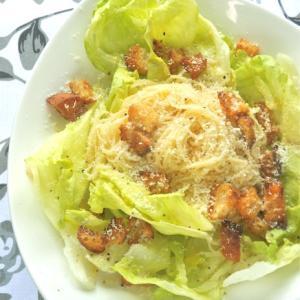 レタスたっぷり!が美味しい〜シーザーサラダのカッペリーニ。