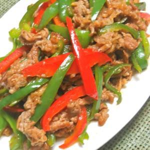 ご飯に合う〜簡単おつまみおかず!パパッと炒めて青椒肉絲〜。