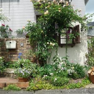 ガーデンテラスで癒やしのティータイム