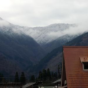 五箇山の高坪山は雪だった