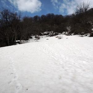 冬ルート探しに 医王山