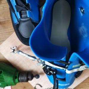 ブーツの当たりを削る